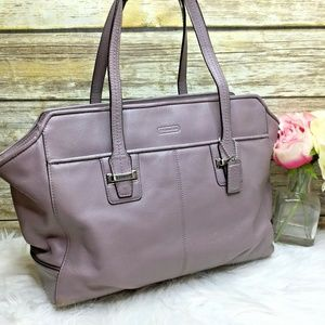Coach Gray Taylor Leather Alexis Carryall Tote Bag